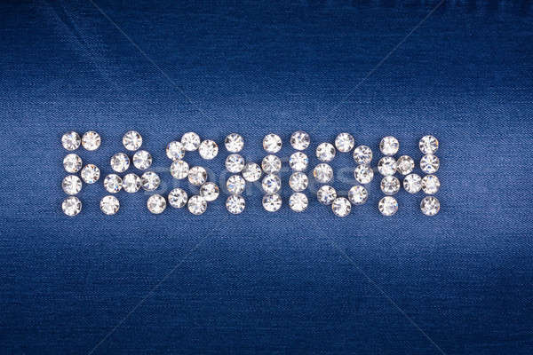The word 'fashion' made by ​​with rhinestones Stock photo © alekleks