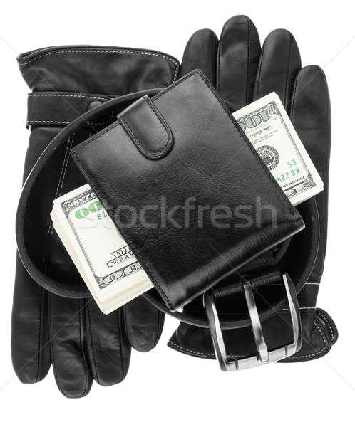 ベルト 手袋 孤立した 白 お金 デザイン ストックフォト © alekleks