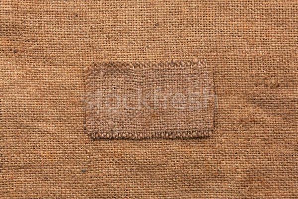 çerçeve çuval bezi lies kullanılmış dizayn kumaş Stok fotoğraf © alekleks