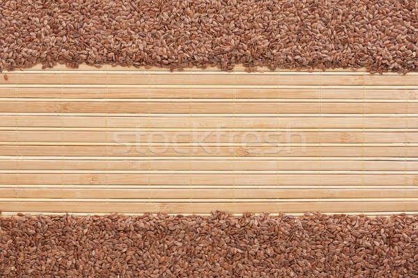 flax seed  on a   bamboo mat Stock photo © alekleks