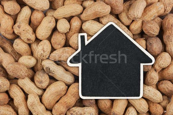 Huis prijs tag pinda's ruimte Stockfoto © alekleks