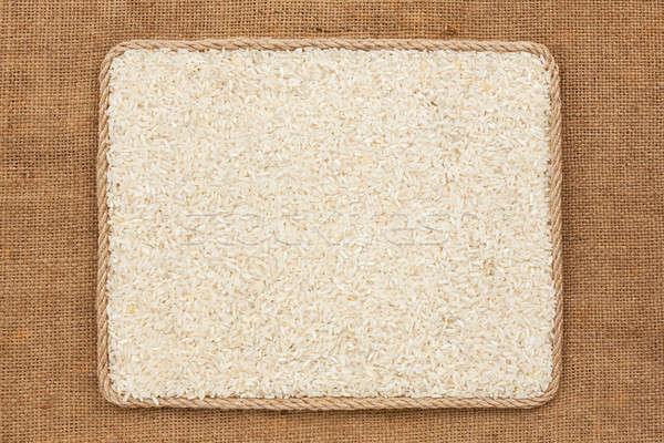 Keret kötél rizs magvak háttér energia Stock fotó © alekleks