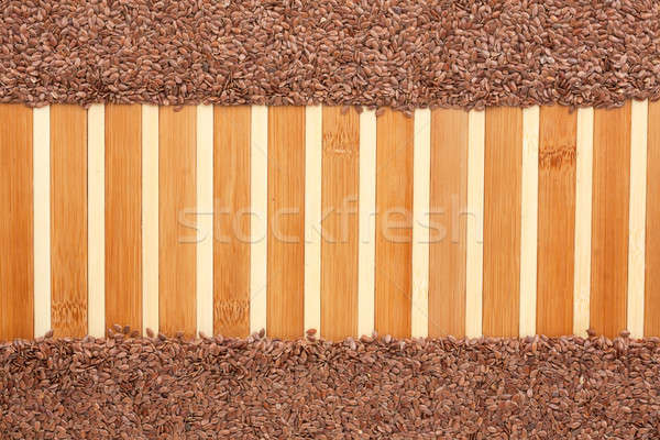 Semente bambu espaço texto textura Óleo Foto stock © alekleks