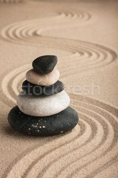 Stock fotó: Piramis · kövek · áll · homok · természet · kert