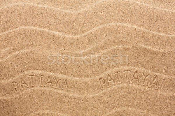 碑文 波状の 砂 ビーチ テクスチャ 夏 ストックフォト © alekleks