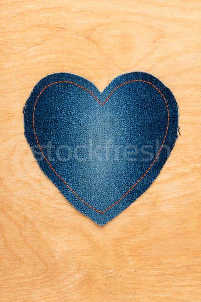 Jeans coração dia dos namorados textura moda Foto stock © alekleks