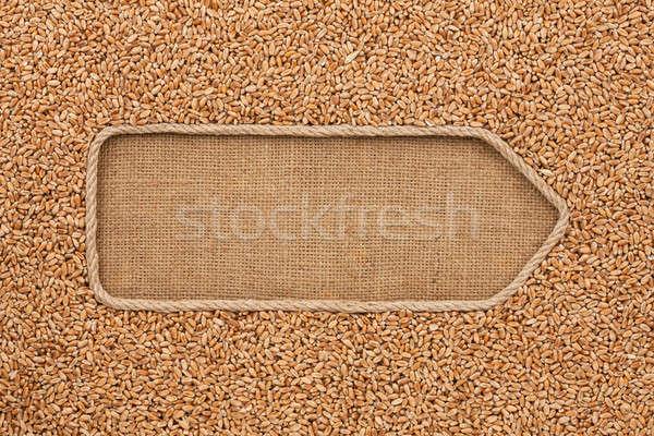 веревку зерна пшеницы пространстве продовольствие фон Сток-фото © alekleks