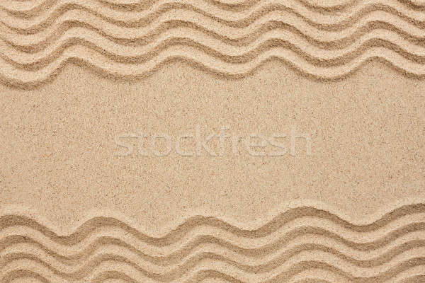 wavy lines in the sand  Stock photo © alekleks