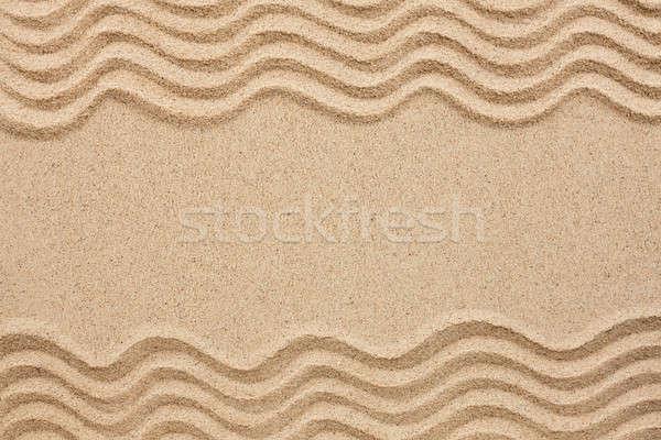 Falisty linie piasku przestrzeni tekst streszczenie Zdjęcia stock © alekleks