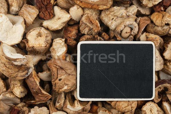Preço membro mentiras secas cogumelo espaço Foto stock © alekleks
