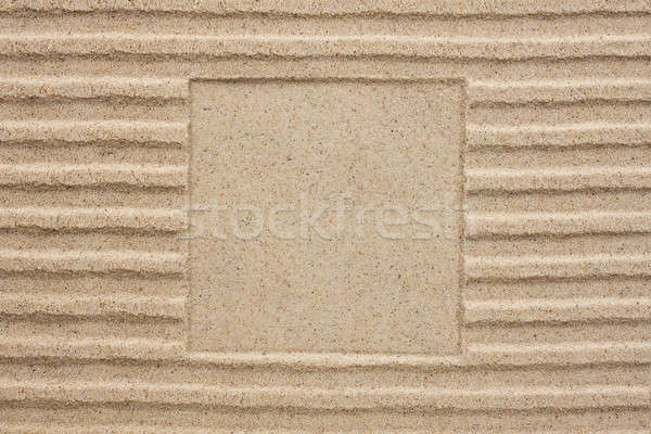 Embossed square in the sand Stock photo © alekleks