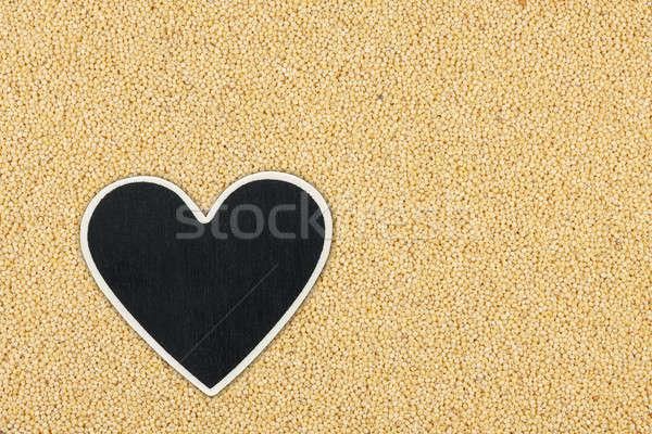Corazón precio etiqueta mentiras espacio madera Foto stock © alekleks