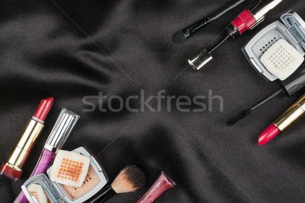 красивой фотография косметических черный атласных пространстве Сток-фото © alekleks