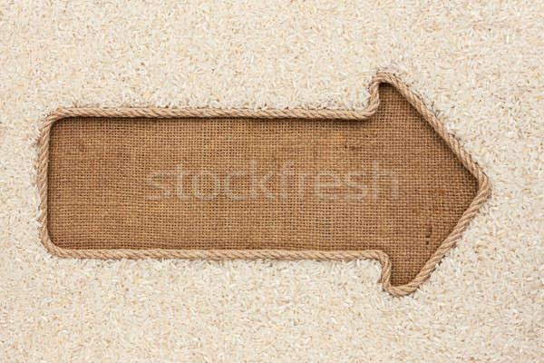 Kötél gabona rizs űr étel háttér Stock fotó © alekleks