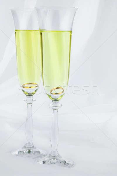 Gyűrű üveg bor konzerv használt buli Stock fotó © alekleks