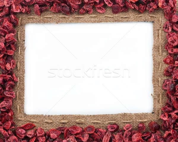 フレーム 黄麻布 白 食品 ストックフォト © alekleks
