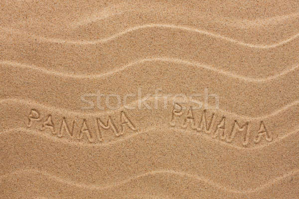 Panama felirat hullámos homok textúra buli Stock fotó © alekleks