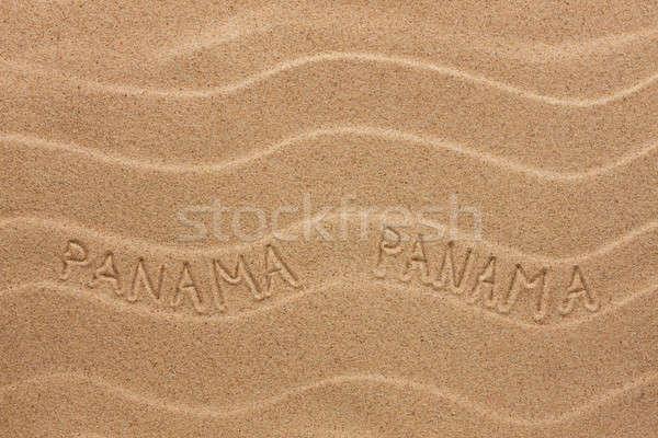 Panama Inschrift wellig Sand Textur Party Stock foto © alekleks