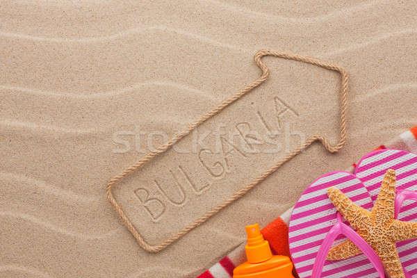 Bułgaria plaży piasku strony morza Zdjęcia stock © alekleks