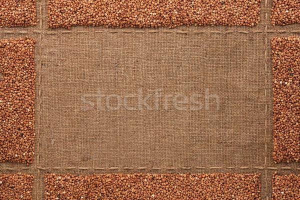 Gyönyörű keret hely szöveg rajz háttér Stock fotó © alekleks