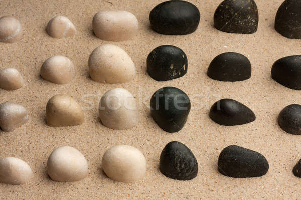 Foto stock: Piedras · fuera · arena · pueden · utilizado · fondo