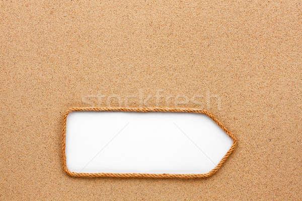 Corda areia lugar natureza quadro verão Foto stock © alekleks