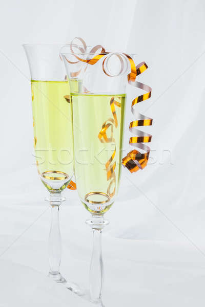 Ring in a glass of wine Stock photo © alekleks