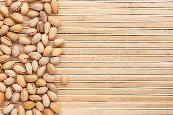 Pisztácia bambusz konzerv használt fa egészség Stock fotó © alekleks