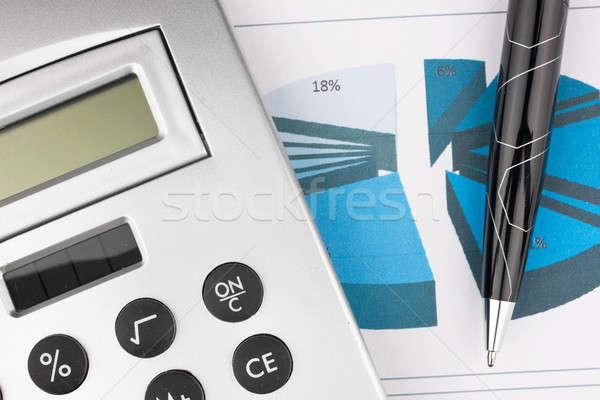 calculator and pen  Stock photo © alekleks