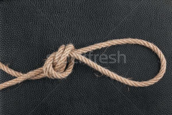 Stockfoto: Touw · natuurlijke · leder · kan · gebruikt