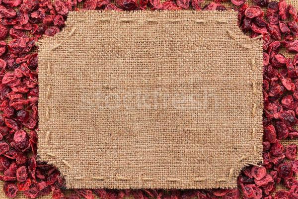 フレーム 黄麻布 クランベリー スペース 背景 ストックフォト © alekleks