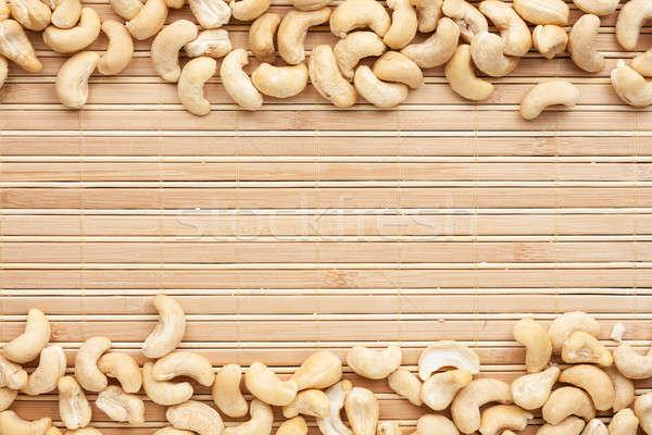 Kesudió hazugságok bambusz hely szöveg étel Stock fotó © alekleks