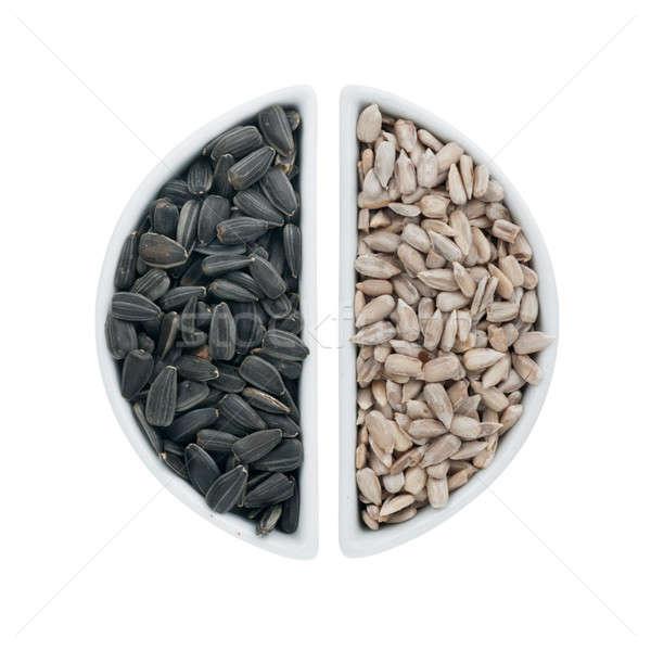2 セラミック プレート ヒマワリ 種子 孤立した ストックフォト © alekleks