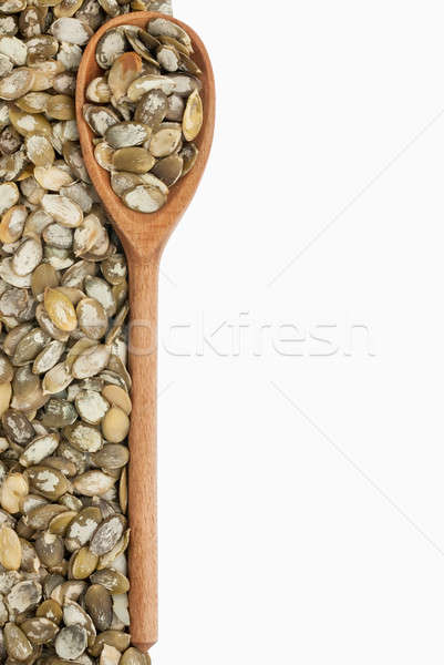 wooden spoon with pumpkin seeds Stock photo © alekleks