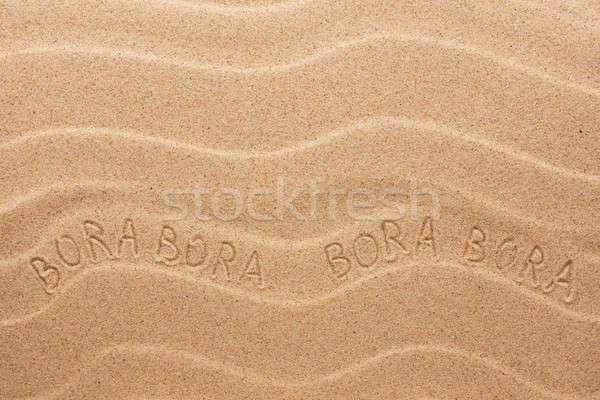 волнистый песок пляж текстуры лет Сток-фото © alekleks