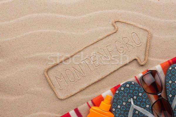 モンテネグロ ビーチ 砂 パーティ 海 ストックフォト © alekleks