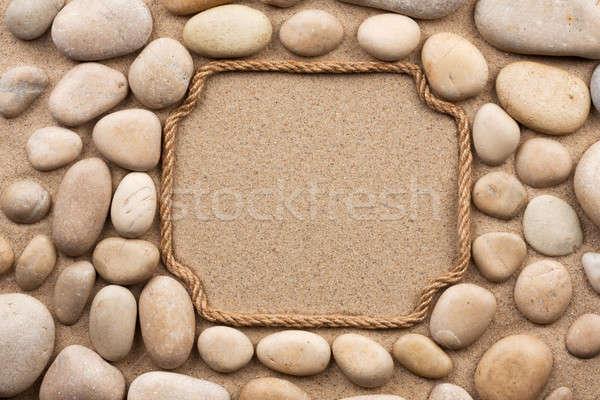 Touw witte stenen textuur achtergrond steen Stockfoto © alekleks