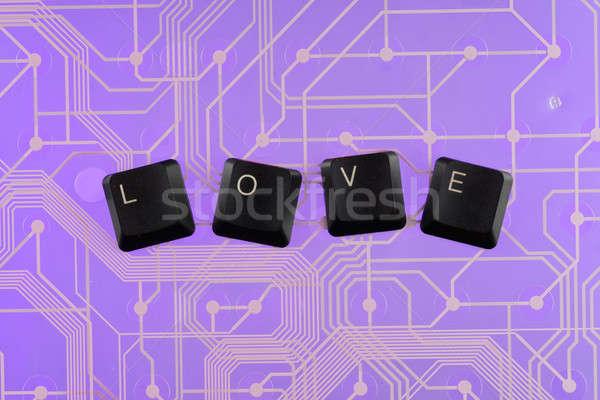 Keyboard keys laid out the word  love  Stock photo © alekleks