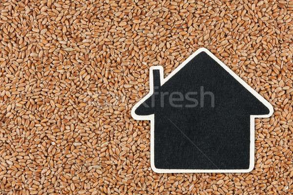 House pointer, the price tag lies on wheat Stock photo © alekleks