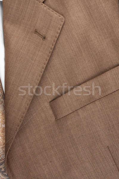 Stock fotó: Zseb · kabát · közelkép · konzerv · használt · üzlet