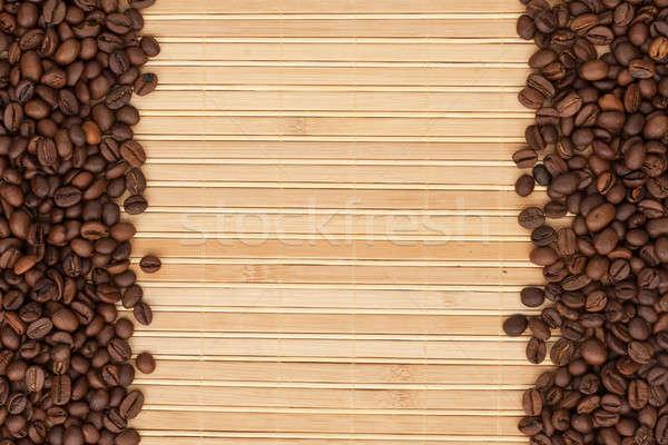 кофе бамбук место текстуры кофе аннотация Сток-фото © alekleks