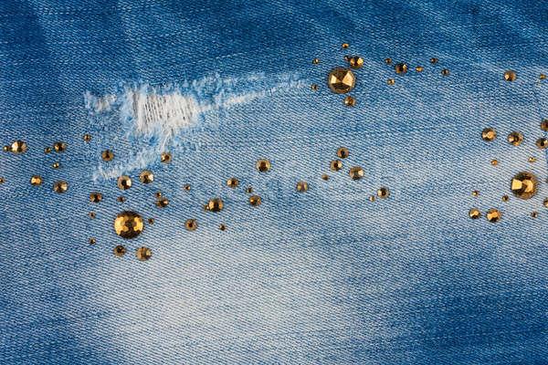 Açık mavi kot uzay moda Metal kumaş Stok fotoğraf © alekleks