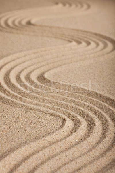 Zig-zag sabbia distanza natura sfondo Foto d'archivio © alekleks