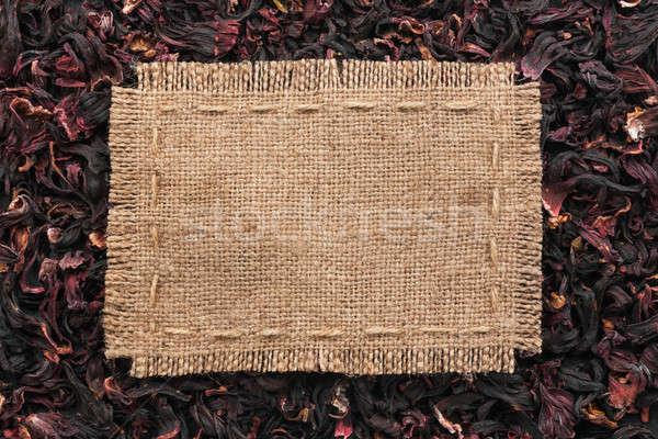 Quadro pano de saco linha mentiras hibisco lugar Foto stock © alekleks
