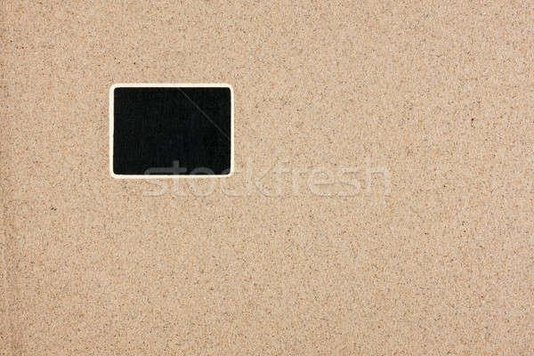 Pokładzie formularza prostokąt piasku puszka Zdjęcia stock © alekleks
