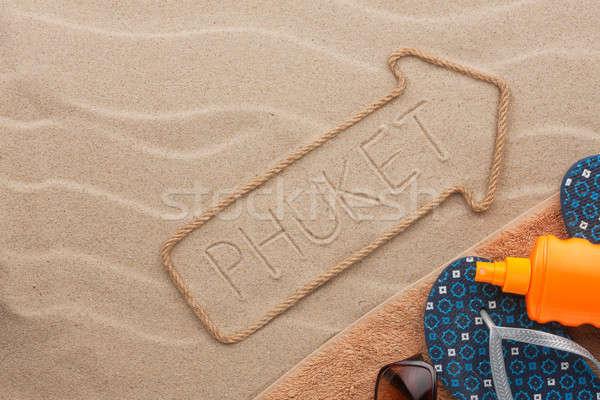 Phuket praia areia festa fundo Foto stock © alekleks