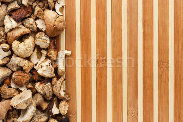 Secas cogumelo bambu espaço texto menu Foto stock © alekleks
