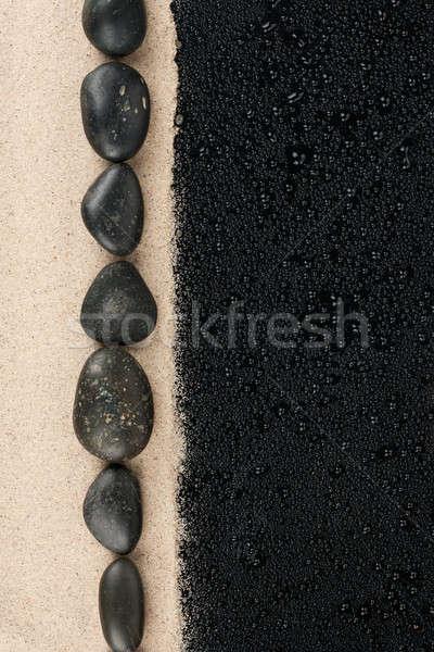 Zen pierres sable espace texte Photo stock © alekleks