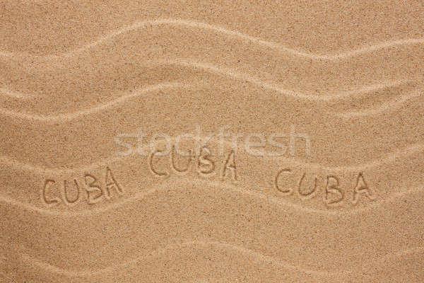 Cuba ondulado areia textura festa Foto stock © alekleks