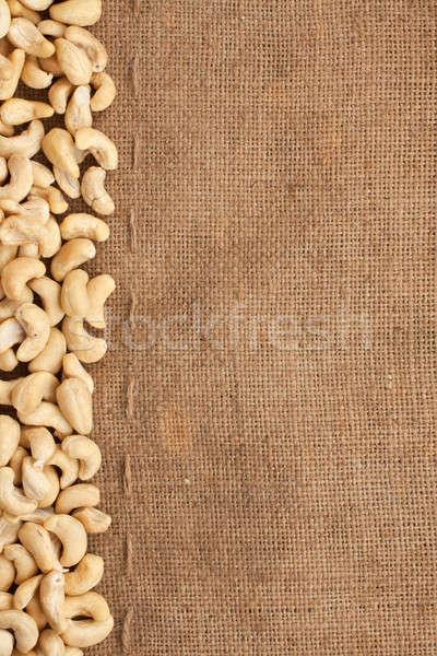 Stitching and sewing cashew lying on sackcloth  Stock photo © alekleks